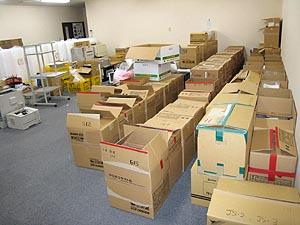 提供されたPCの保管場所を移動
