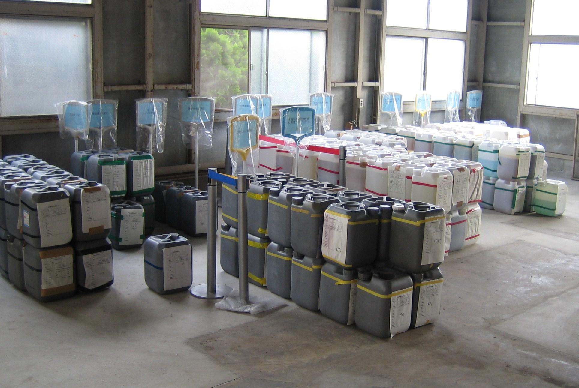 実験廃液の回収