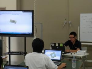 CAD実習の様子