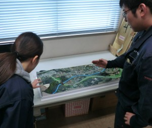 設計道路の立体模型紹介